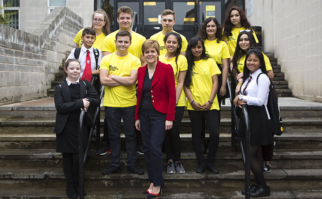 First Minister visits Castlebrae Community High School